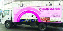 Chairmania Lorry Branding