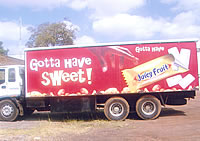 Juicy Fruit Truck Branding