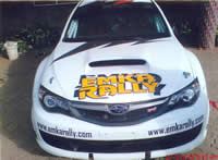 Emka Rally Car Branding