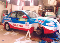 Oilibya Rally Car Branding